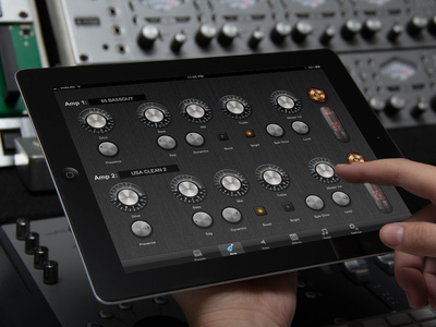 A sophisticated iPad MIDI controller for one of the Axe-FX advanced guitar effects processor.